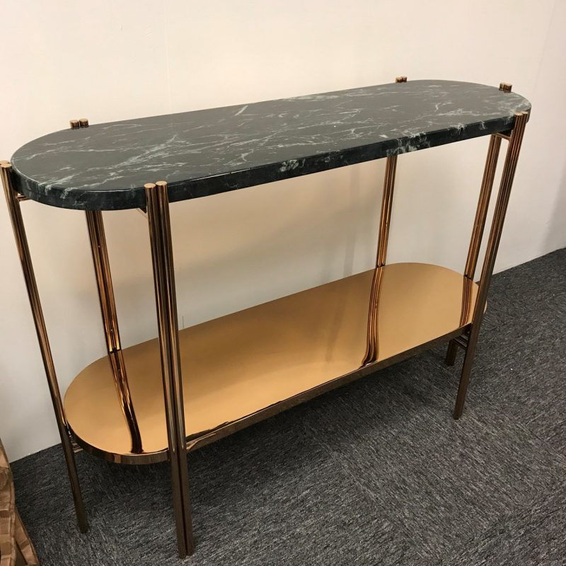 emerald green console table