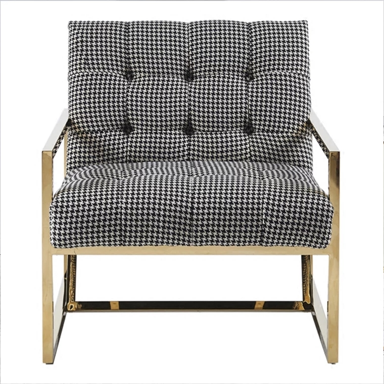Avery Checkered Armchair