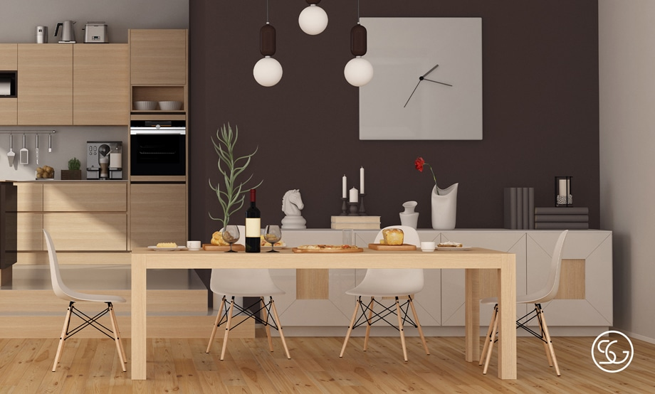 Dining room sideboard position