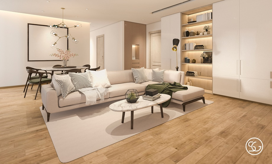 Marble and wood combination furniture