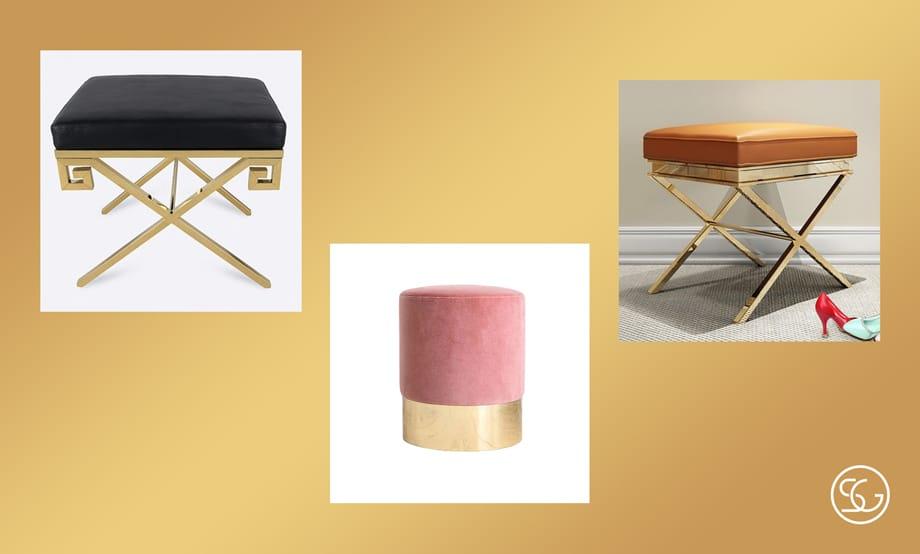 Petite cushioned stool