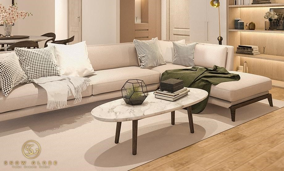 Oval Marble Coffee tables